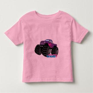 Blonde Girl Driving Purple Monster Truck Toddler T-shirt