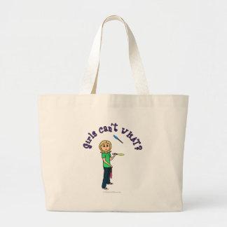 Blonde Girl Juggler Jumbo Tote Bag