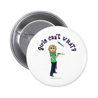 Blonde Girl Juggler Pins