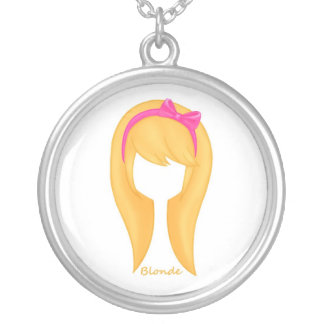 """""""Blonde Girl"""" Neclace Silver Plated Necklace"""