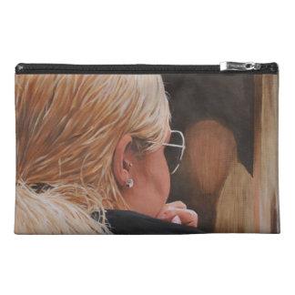 Blonde Girl Original Painting Travel Accessories Bag