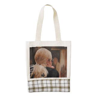 Blonde Girl Original Painting Zazzle HEART Tote Bag