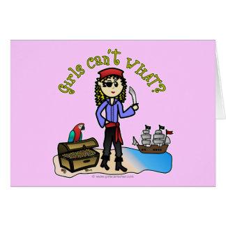 Blonde Girl Pirate Card