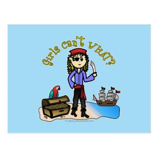Blonde Girl Pirate Postcard