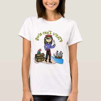 Blonde Girl Pirate T-Shirt