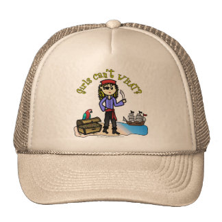 Blonde Girl Pirate Trucker Hat