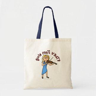 Blonde Girl Playing Violin Bags