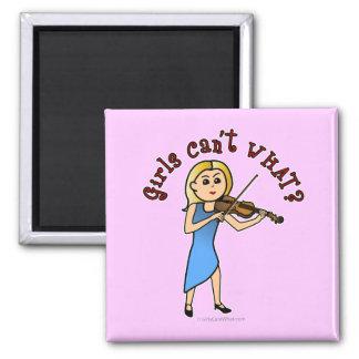 Blonde Girl Playing Violin Fridge Magnet
