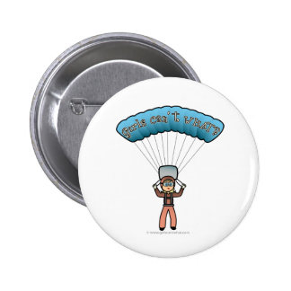 Blonde Girl Sky Diver Buttons