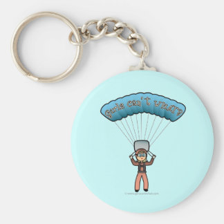 Blonde Girl Sky Diver Keychain