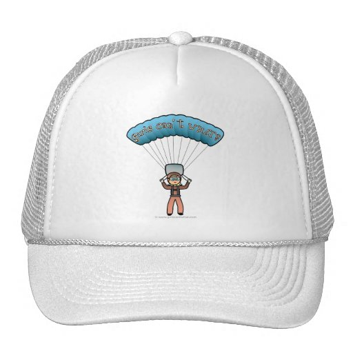 Blonde Girl Sky Diver Trucker Hat