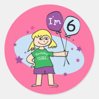 Blonde Girls I m 6 6th Birthday Sticker