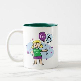 Blonde Girls I'm 6 6th Birthday mug