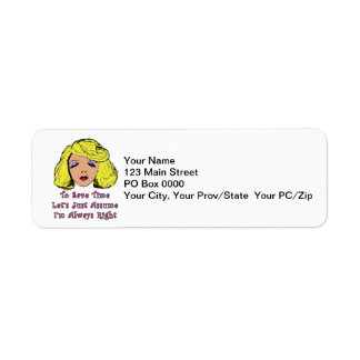 Blonde Glamour Girl Save Time Always Right Label