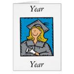 Blonde Grad Greeting Card