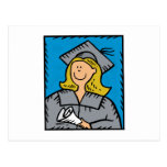 Blonde Grad Postcard