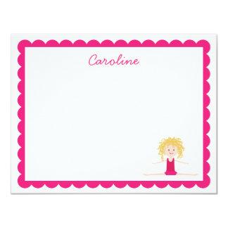 Blonde Gymnast | Flat Note Card
