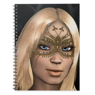Blonde Hair Blue Eyes Golden Butterfly Mask