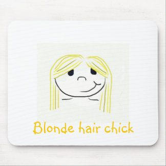 Blonde hair chick mouse pad