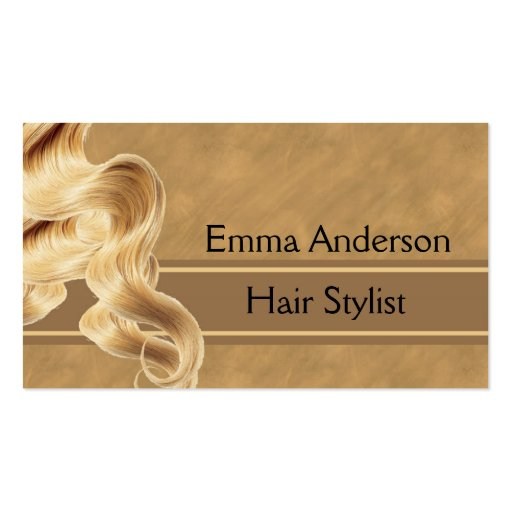 Blonde hair stylist business card template zazzle for Hair salon business cards templates free