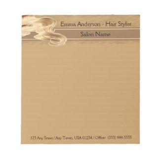 Blonde Hair Stylist Notepad