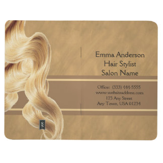 Blonde Hair Stylist Pocket Journal