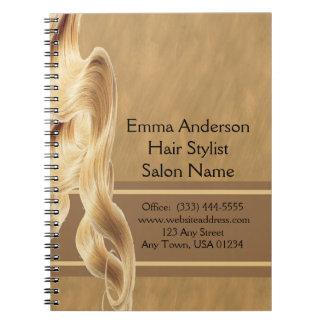 Blonde Hair Stylist Spiral Notebook