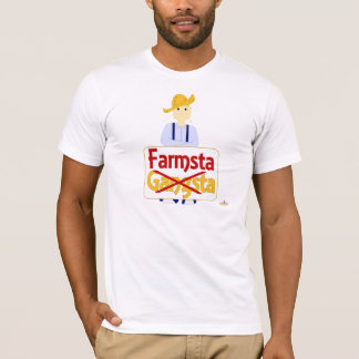 Blonde Haired Frowning Farmie Blue Pants Farmsta X T-Shirt