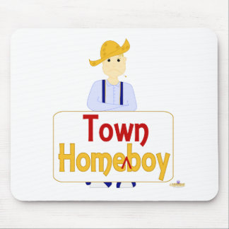 Blonde Haired Frowning Farmie Blue Pants HomeTownB Mouse Pads