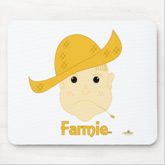 Blonde Haired Frowning Farmie Face Farmie Mouse Mats