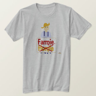 Blonde Haired Grinning Farmie Blue Pants Farmie X  T-Shirt