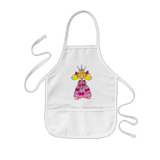 Blonde haired princess kids' apron