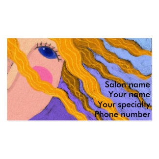 Blonde Highlights Hair Stylist Business Card