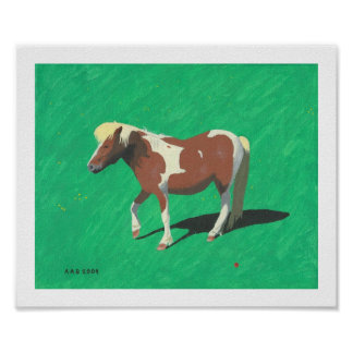 Blonde Horse Poster