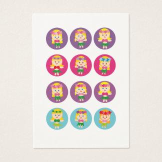 Blonde Hula Girl Business Card