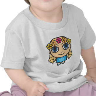 Blonde Hula Girl in Blue-Blue Eyes Baby Teeshirt T-shirts