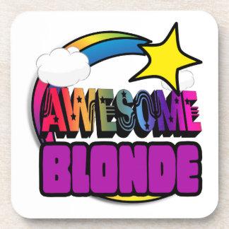 Blonde impresionante del arco iris de la estrella posavasos de bebidas