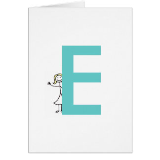 Blonde Initial Notecards Greeting Cards