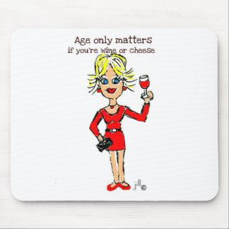 Blonde jillie AGE ONLY MATTERS Mouse Pad