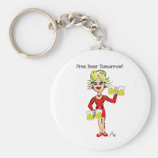 Blonde jillie FREE BEER TOMORROW Keychain