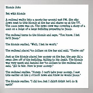 Blonde Joke Poster