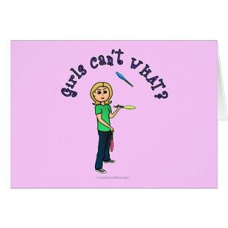 Blonde Juggler Card