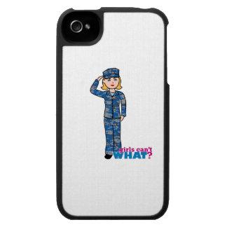 Blonde ligero de Camo de la marina de guerra iPhone 4 Cárcasa