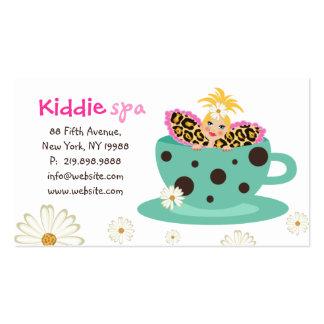 Blonde lindo de la margarita de la tarjeta de la c plantilla de tarjeta de visita