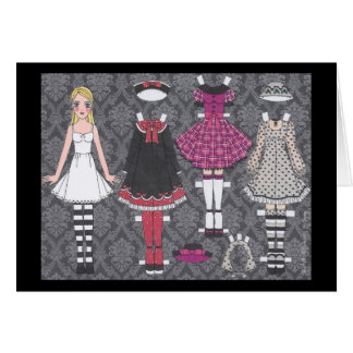 Blonde Lolita Paper Doll Blank Card