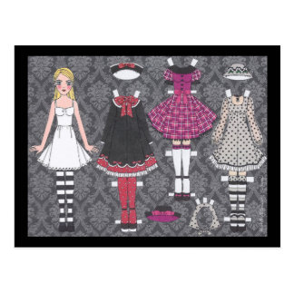 Blonde Lolita Paper Doll Post Card