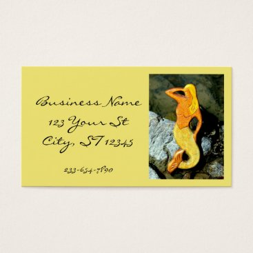 Beach Themed blonde lookout mermaid business card
