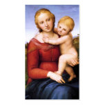 Blonde Madonna and Baby Jesus Business Card Template