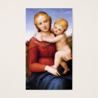 Blonde Madonna and Baby Jesus Business Card