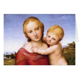 Blonde Madonna and Baby Jesus Card